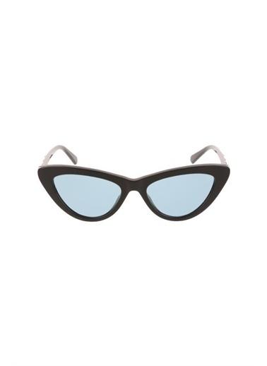 Swarovski Swarovskı Sk0232 Kemik Gövdeli Çekik Camlı Kadın Güneş Gözlüğü Siyah